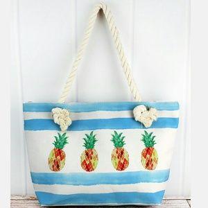 Handbags - NWT Extra Large Pineapple Tote Bag!